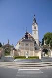 Iglesia de San Juan Bautista en Ljutomer imágenes de archivo libres de regalías