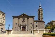 Iglesia de San Juan de los Panetes en Zaragoza españa fotografía de archivo libre de regalías
