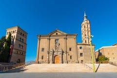 Iglesia de Iglesia de San Juan de los Panetes, Zaragoza, España Copie el espacio para el texto imagen de archivo libre de regalías