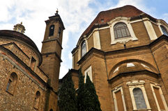 Iglesia de San Lorenzo en Florencia Foto de archivo libre de regalías