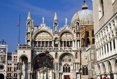 Iglesia de San Marco y palacio del dux, Venecia Foto de archivo