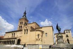 Iglesia de San MartÃn in Segovia Stockfotos