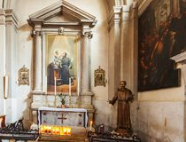 Iglesia de San Martín en la isla de Burano Imagenes de archivo