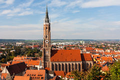 Iglesia de San Martín en Landshut Imágenes de archivo libres de regalías