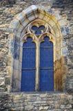 Ventana vieja de la iglesia, Praga fotografía de archivo