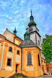 Iglesia de San Martín en Trebic, República Checa fotos de archivo libres de regalías