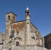 Iglesia de San Martin in Trujillo in Caceres Spain royalty free stock photography