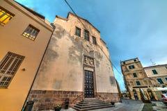 Iglesia de San Micaela en Alghero Imágenes de archivo libres de regalías