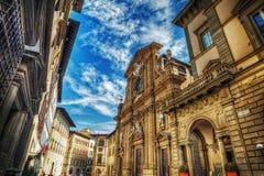 Iglesia de San Micaela y de Cayetano en Florencia Fotografía de archivo