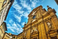 Iglesia de San Micaela y de Cayetano en Florencia Imagen de archivo libre de regalías
