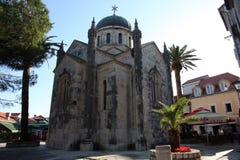 Iglesia de San Miguel el arcángel, Herceg Novi, Montenegro Fotos de archivo libres de regalías