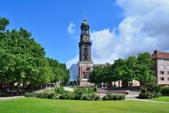 Iglesia de San Miguel en Hamburgo fotos de archivo libres de regalías