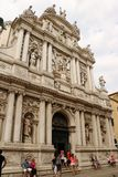 Iglesia de San Moise en Venecia, Italia foto de archivo