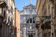 Iglesia de San Moise, en Venecia, Italia imagenes de archivo