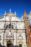 Iglesia de San Moise en Venecia, Italia fotos de archivo