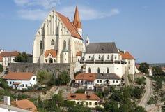 Iglesia de San Nicolás en Znojmo Imágenes de archivo libres de regalías