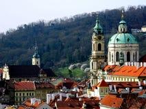Iglesia de San Nicolás, Lesser Town, Praga, República Checa Foto de archivo libre de regalías