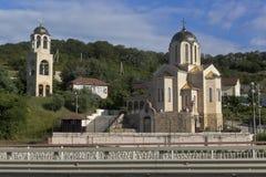 Iglesia de San Nicolás y madre del ` de Sumela Monastery del ` del icono de dios en el pueblo Moldovka, Sochi Imagen de archivo