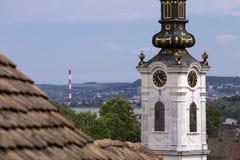 Iglesia de San Nicolás en la vieja parte de Zemun, Serbia Fotografía de archivo libre de regalías