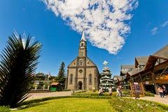 Iglesia de San Pedro Ciudad de Gramado, Río Grande del Sur - el Brasil Imagen de archivo