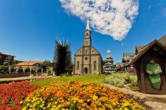 Iglesia de San Pedro Ciudad de Gramado, Río Grande del Sur - el Brasil Fotos de archivo