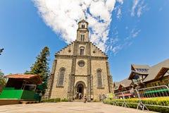 Iglesia de San Pedro Ciudad de Gramado, Río Grande del Sur - el Brasil Fotografía de archivo