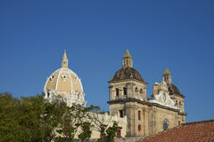 Iglesia de San Pedro Claver in Cartagena de Indias, Colombia Stock Photo