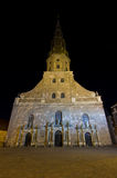 Iglesia de San Pedro en Riga, Latvia Imagen de archivo libre de regalías