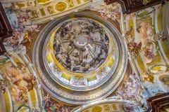 Iglesia de San Pedro y de Paul en la abadía de Melk Fotos de archivo