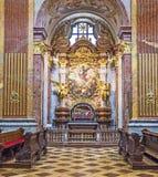 Iglesia de San Pedro y de Paul en la abadía de Melk Imagenes de archivo