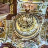 Iglesia de San Pedro y de Paul en la abadía de Melk Foto de archivo libre de regalías