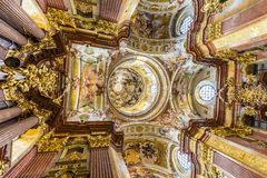 Iglesia de San Pedro y de Paul en la abadía de Melk Imágenes de archivo libres de regalías