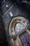 Iglesia de San Pedro y de Paul en Vy?ehrad Foto de archivo