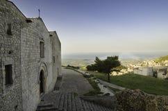 Iglesia de San Salvador en Caltabellotta (Sicilia, Italia) Imagen de archivo libre de regalías