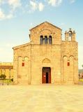 Iglesia de San Simplicio en Olbia Fotografía de archivo
