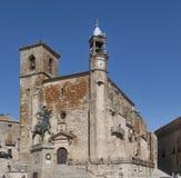 Iglesia de San Svala i Trujillo i Caceres Spanien Royaltyfri Fotografi