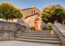Iglesia de San Tirso, Palas de Rey foto de archivo libre de regalías