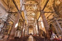 Iglesia de Sant Anastasia, Verona, Italia imagen de archivo libre de regalías