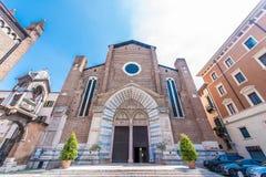 Iglesia de Sant Anastasia, Verona, Italia fotos de archivo