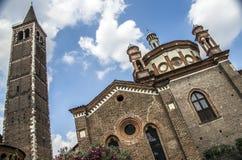 Iglesia de Sant Eustorgio en Milano, Italia Imagen de archivo