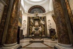 Iglesia de Sant Ignacio, Roma, Italia Imagen de archivo libre de regalías