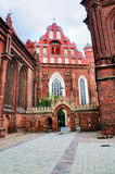 Iglesia de Santa Ana, Vilnius Imagen de archivo libre de regalías