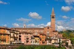Iglesia de Santa Anastasia - Verona Italy imagen de archivo