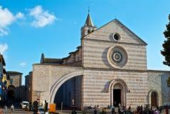 Iglesia de Santa Chiara - Assisi Imágenes de archivo libres de regalías