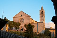 Iglesia de Santa Chiara - Assisi Imagen de archivo libre de regalías