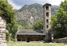 Iglesia de Santa Coloma en el principado de Andorra fotografía de archivo libre de regalías