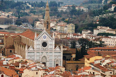 Iglesia de Santa Croce en Florencia fotografía de archivo libre de regalías