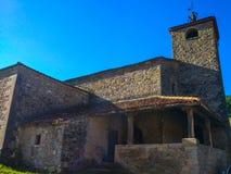 Iglesia de Santa Eulalia de Las Dorigas Santa Eulalia de Las Do. Rigas church in La Reaz, Asturias, . Camino de Santiago Primitivo stock photography