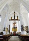 Iglesia de Santa María en el gdasnk, Polonia Fotografía de archivo