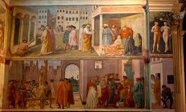 Iglesia de Santa Maria del Carmine de la capilla de Brancacci del fresco, Florencia, Firenze, Toscany, Italia fotografía de archivo